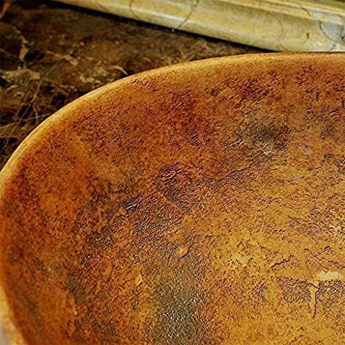 バスルームオーバルレトロ洗面シンク景徳鎮セラミックホテルアンチスプラッシュ洗面蛇口セット