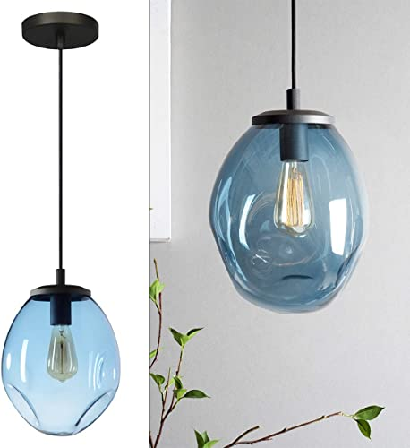 Aurora Glass Pendant Light Handblown Glass Hanging Lighting Modern Ceiling Light Pendant Lighting