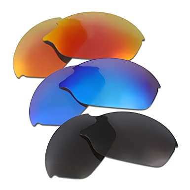 f3b5f7bbed5 Hkuco Mens Replacement Lenses For Oakley Romeo 2 Sunglasses Red Blue Black  Polarized