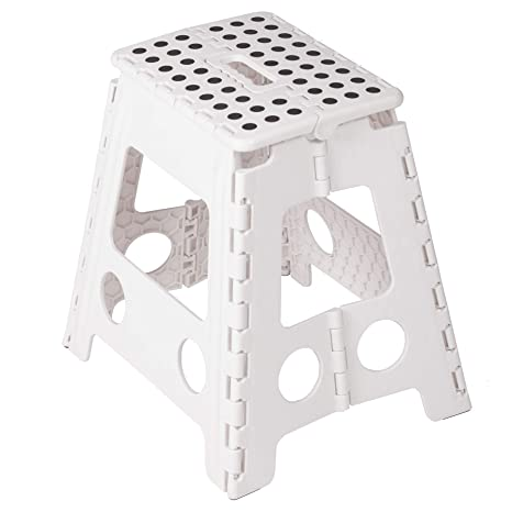 Excellent Karmas Product Super Strong Folding Step Stool 15 In Portable Carrying Handle For Adults And Kids Great For Kitchen White Ncnpc Chair Design For Home Ncnpcorg