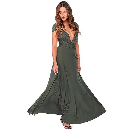 Olive Green Long Dress Amazon