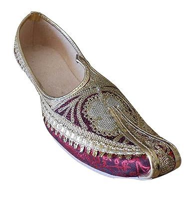 Punjabi Groom Khussa Men Shoes mojaries Flip-Flops Handmade Flat