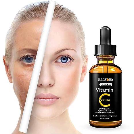 Pawaca - Sérum de vitamina C para cara, suero facial con ácido hialurónico y vitamina