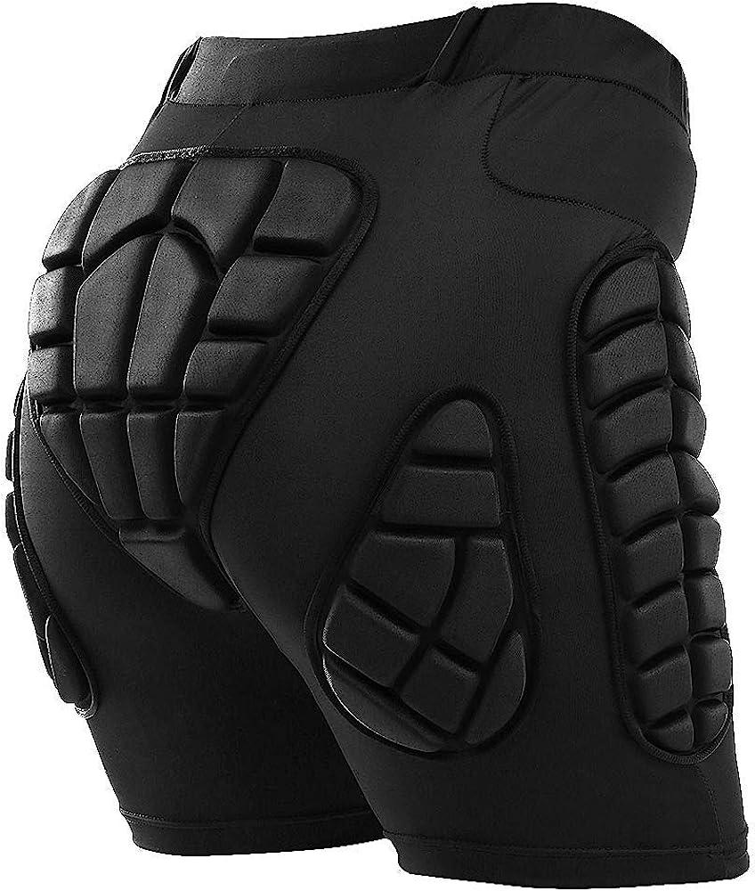 TOMSHOO Hip Protection Pads Shorts Upgrade Hip Pads 3D EVA Hip Protection Pad: Clothing