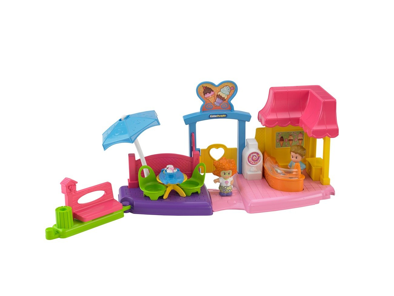 Amazon.com: Fisher-Price Little People Ice Cream Shop: Toys & Games