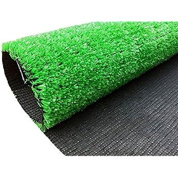 Amazon.com : Indoor/Outdoor Green Artificial Grass Turf Carpet Rug ...