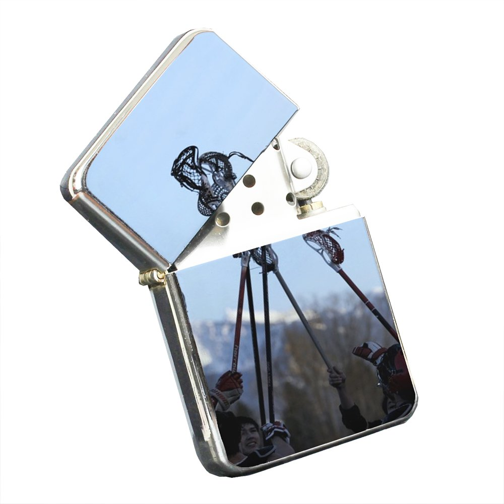 Lacrosse Winter - Silver Chrome Pocket Lighter by Elements of Space