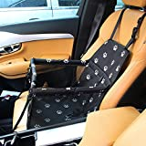 penobon Dr.Memory Pet Car Seat Cover Carrier Portable Foldable Carrier with Seat Belt for Dog Cat Car Booster Seat Carrier Up To 20lbs …