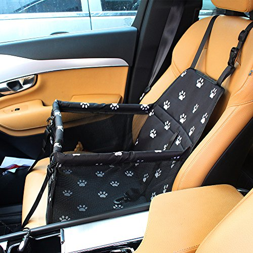 penobon Dr.Memory Pet Car Seat Cover Carrier Portable Foldable Carrier with Seat Belt for Dog Cat Car Booster Seat Carrier Up To 20lbs … by penobon