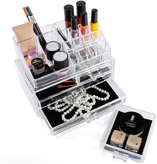 YWZQ Acrílico Brillo de Labios Maquillaje Organizador, Gran Capacidad de Maquillaje Caja de acrílico de Escritorio Multi-cajón cosmético del almacenaje del lápiz Labial Acabado del Soporte: Amazon.es: Hogar