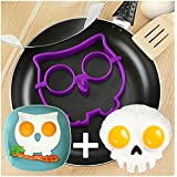 2 Pcs/set NEW 2014 Skull & Owl Egg Shaper Silicone Mold Egg Ring Novelty Breakfast Eggs Mold Cooking Tools Christmas Supplies