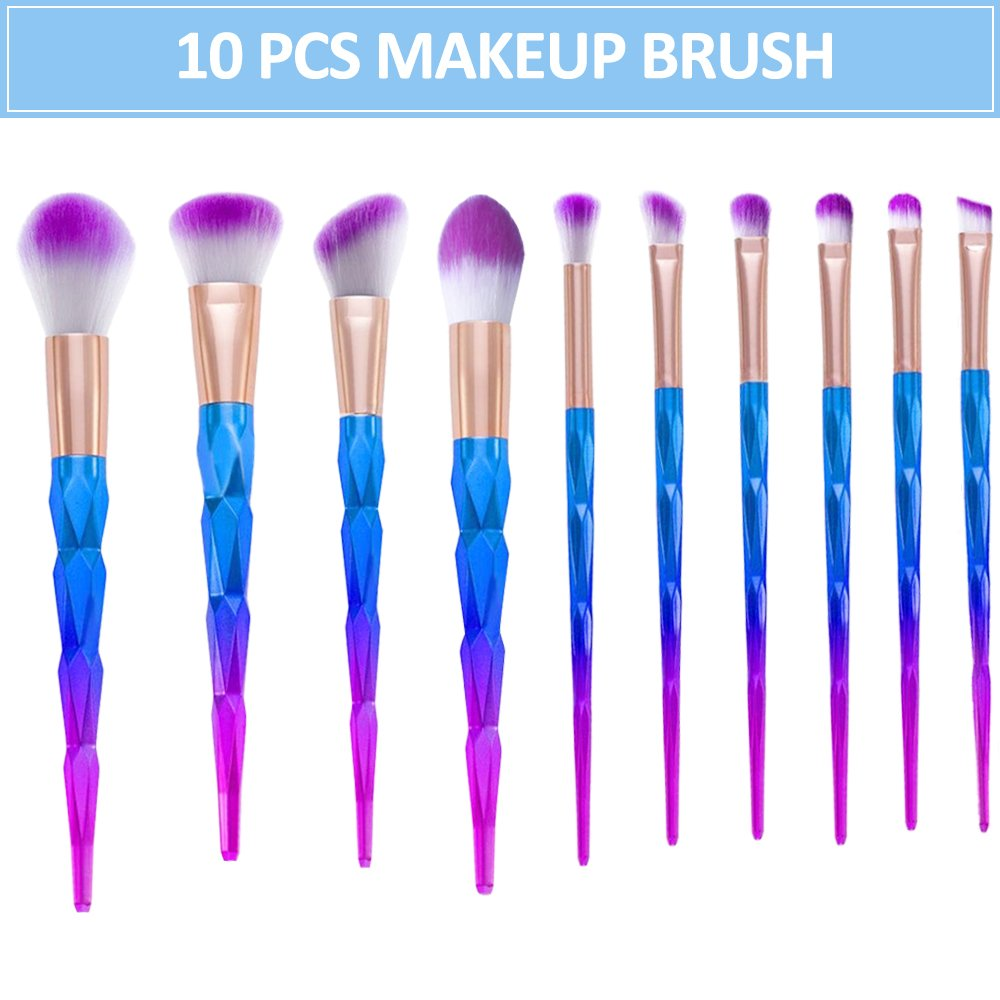 Esonstyle Makeup Brush Set, 10pcs Makeup Brushes Powder Foundation Blush Contour Fan Brush Eyeshadow Blending Brushes (10pcs)