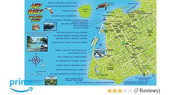 Map Of The Keys In Florida.Key West Florida Walking Guide Card Franko Maps Ltd 9781601905185