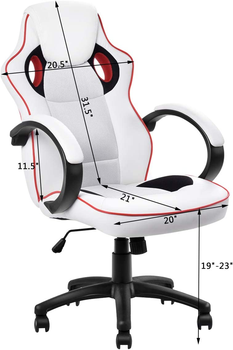 Giantex Executive Racing Style Chair High Back Office Chair Bucket Seat Computer Desk Task Black/&Blue