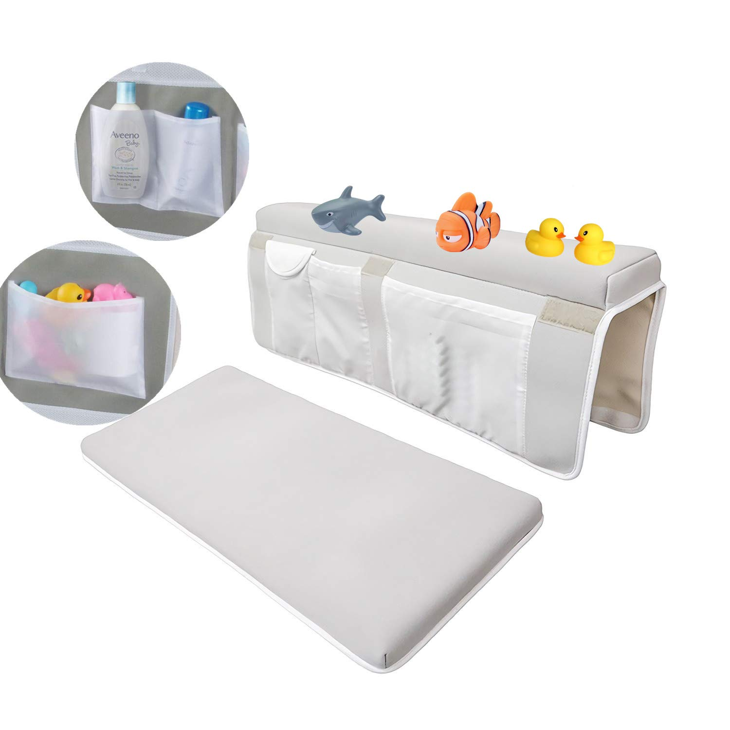 Bath Kneeler & Elbow Rest Kneeling Pads for Bathing Baby Bathtub Non-Slip Material Kneeling Pad Waterproof PAD Cushion Mats for Baby Toy Accessories Easy to Clean by NXqilixiang