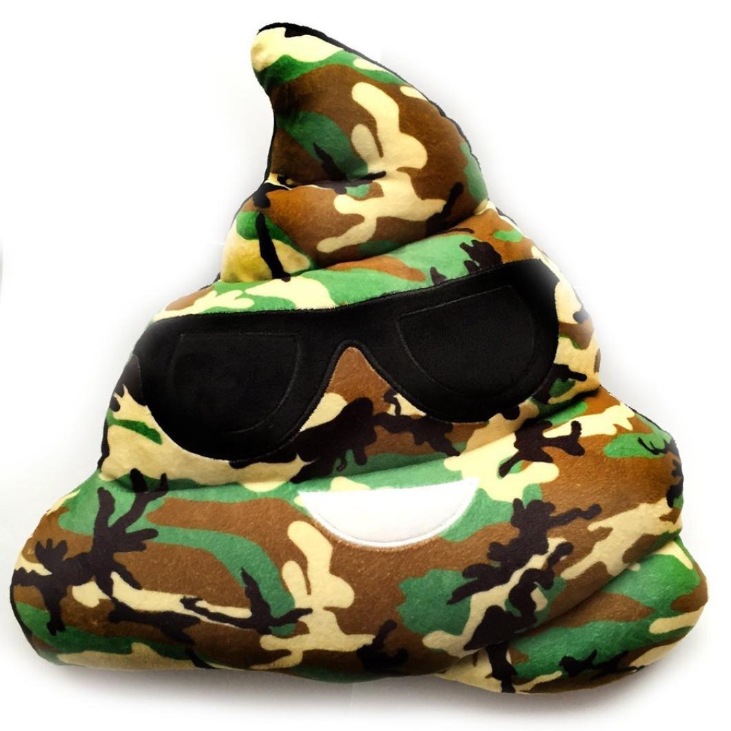 Kids Toy, Zulmaliu Cool Camouflage Heart Eyes Emoji Throw Pillow