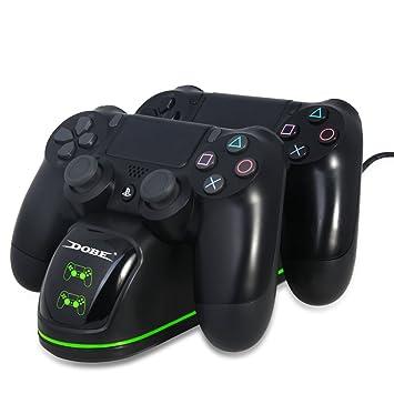 TUTUO para Cargador Mando PS4, Estación de Carga DualShock 4 ...