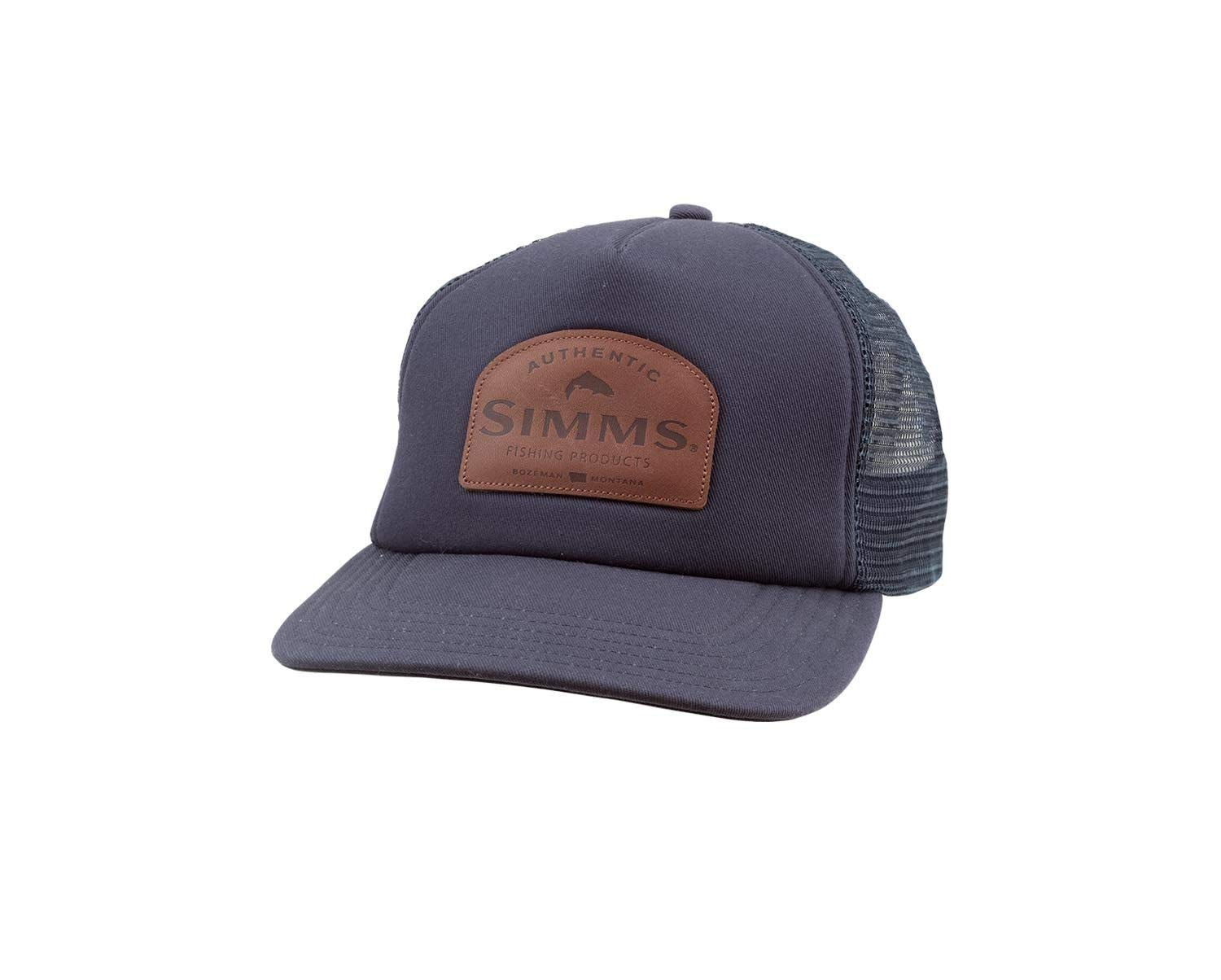 bb84f7e35 Amazon.com : Simms Leather Patch Trucker (Admiral Blue) : Sports & Outdoors