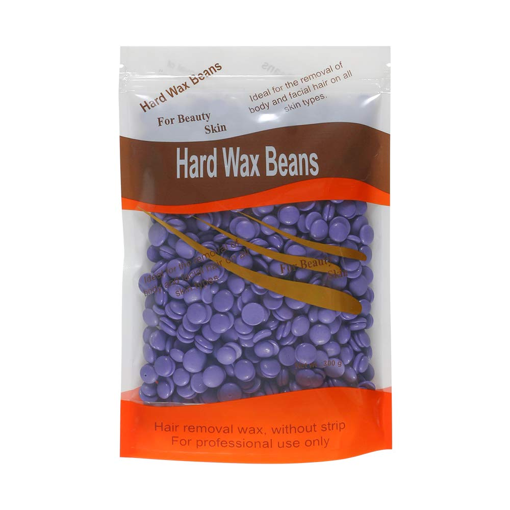 Amazon Com Hard Wax Beans Hair Removal Wax Beads 10 Oz Non Strips Needed Brazilian Waxing 300g For Face Arms Armpit Eyebrow Chest Back Legs Bikini Area Fit For Any Wax Warmers