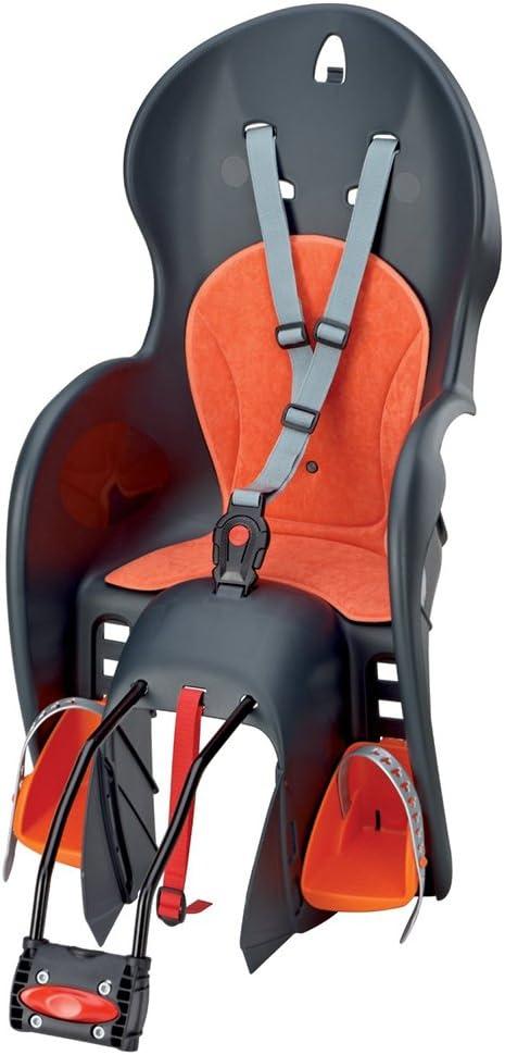 Prophete 5 - Silla Infantil para Bicicleta con cinturón, Color Gris y Naranja