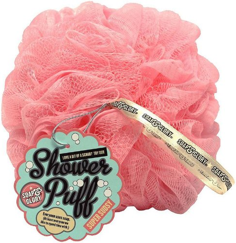 Soap & Glory Pink Shower Puff 5045092293232