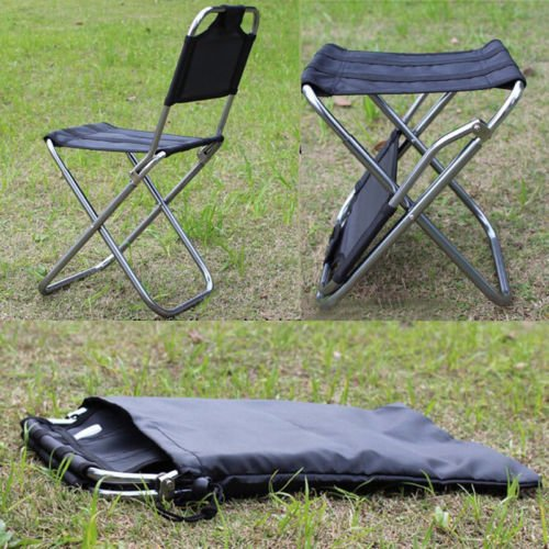 MAZIMARK--Portable Folding Aluminum Chair Outdoor Stool Seat Fishing Camping Travel Picnic by MAZIMARK