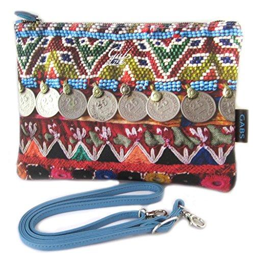 Pouch bag Gabsmulticolore (paillettes etnici)- 28x21x2 cm.