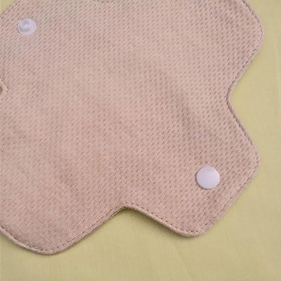 El algodón orgánico 180MM suave cojín lavable compresa higiénica para el uso diario toallas higiénicas reutilizables: Amazon.es: Deportes y aire libre