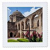 3dRose Danita Delimont - Architecture - Mission San Jose architecture - 16x16 inch quilt square (qs_260118_6)