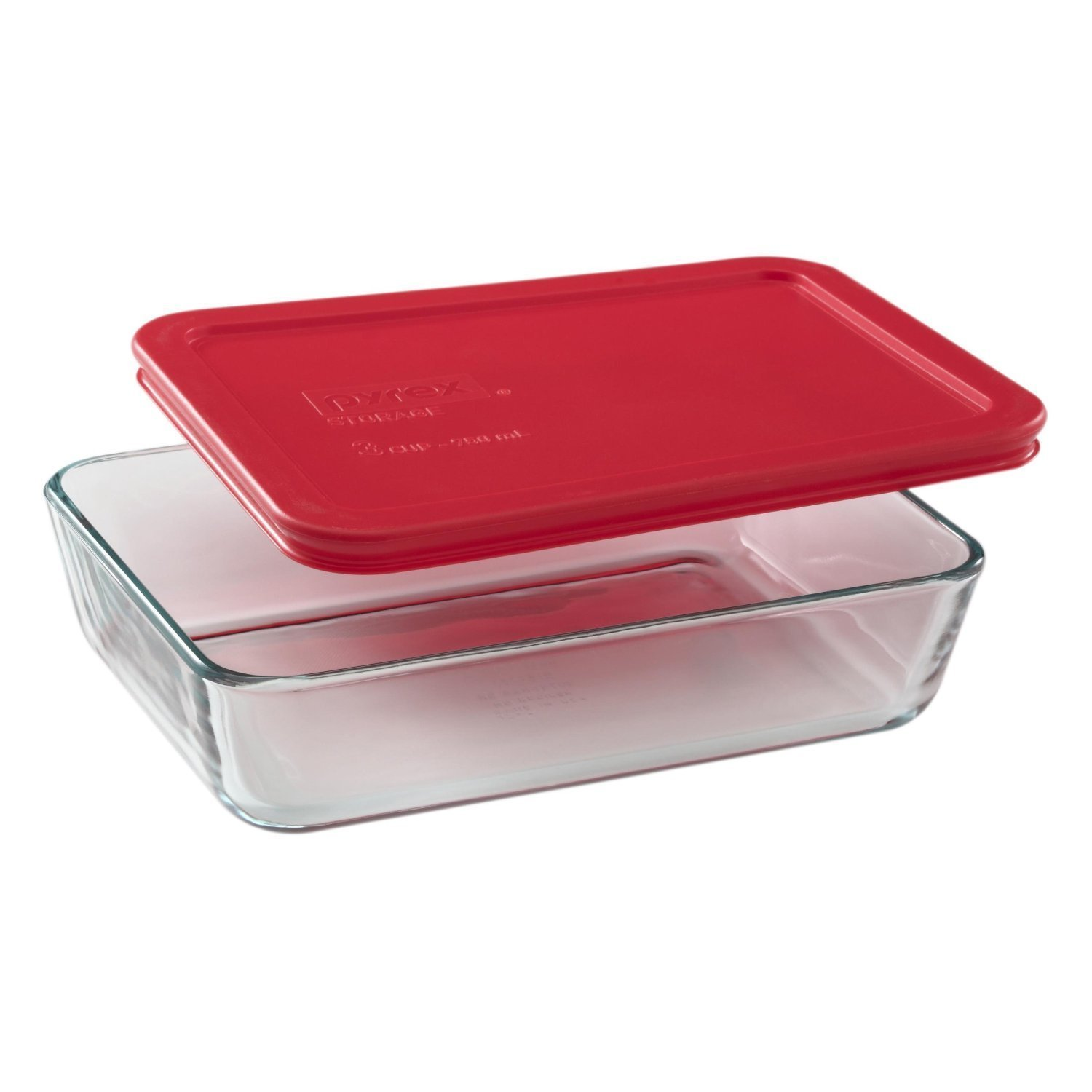 Pyrex 3-cup Rectangle Glass Food Storage Set Container (Pack of 6 Containers)