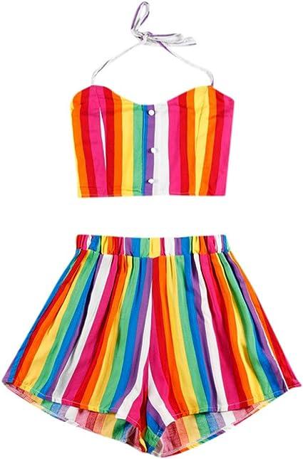 Women Summer Short-sleeved T-shirt High Waist Nine Pants Suits Set Clothes US
