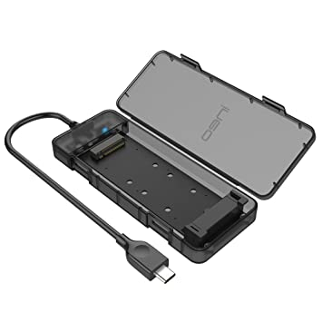 Ineo Carcasa USB C 3.1 Gen 2 Type-C Caja Externa M.2 NGFF SSD 2230 2242 2260 2280, UASP Compatible, No Requiere Herramientas [C2575-NGFF]