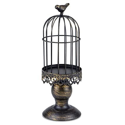 Autai Candle Holder Metal Birdcage Vintage Candlestick Decoration Stick For Wedding Centerpieces Birthday Party