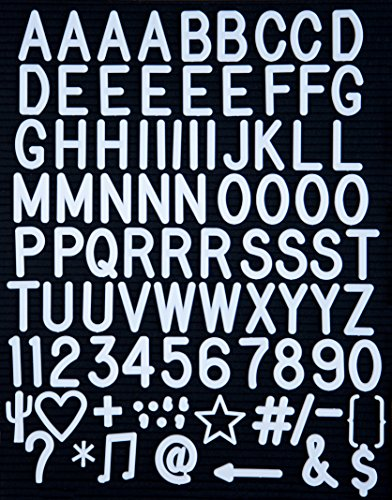 Retrogram Boards Letter Board Letters: 93-2 White Letters, Numbers, Symbols and Punctuation by Retrogram Boards