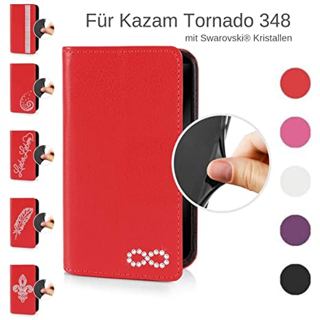 eSPee Handyhülle kompatibel mit Kazam - Tornado 348 - unzerbrechliche Schutzhülle aus Silikon mit Swarovski Kristallen Unendl