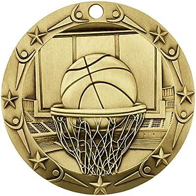 Medalla de Oro de clase mundial de baloncesto con rojo, blanco y ...