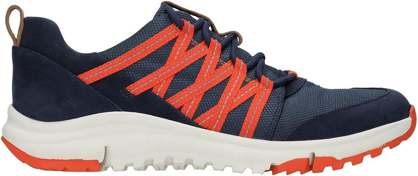 CLARKS Womens Tri Trail Sneaker Navy Combi