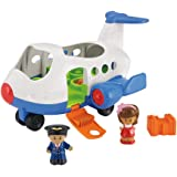 Mattel BJT56 - Fisher-Price Little People Flugzeug, inklusive 2 Figuren