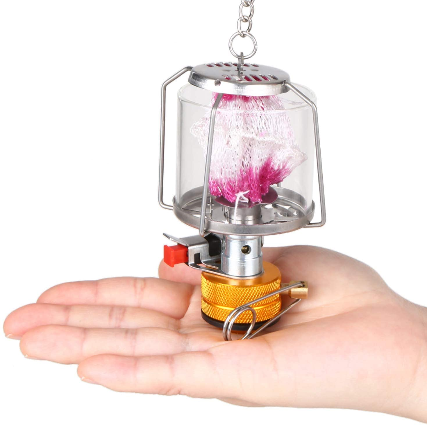 Lixada Linterna de Gas para Cámping Mini Portátil Encendido Piezoeléctrico Lámpara de Gas para Tienda