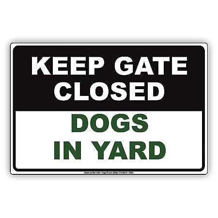 Keep Gate Closed Dogs In Yard Personal Metal Fender Cartel ...