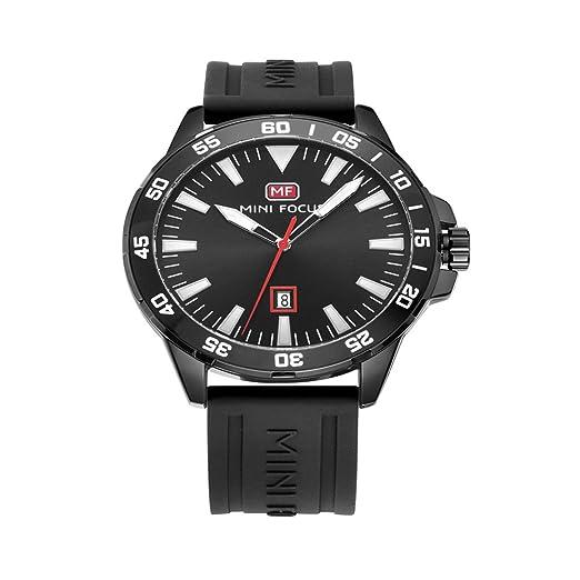 Vintage todo el reloj de los hombres negros relojes impermeables de los hombres coreanos clásicos de ...
