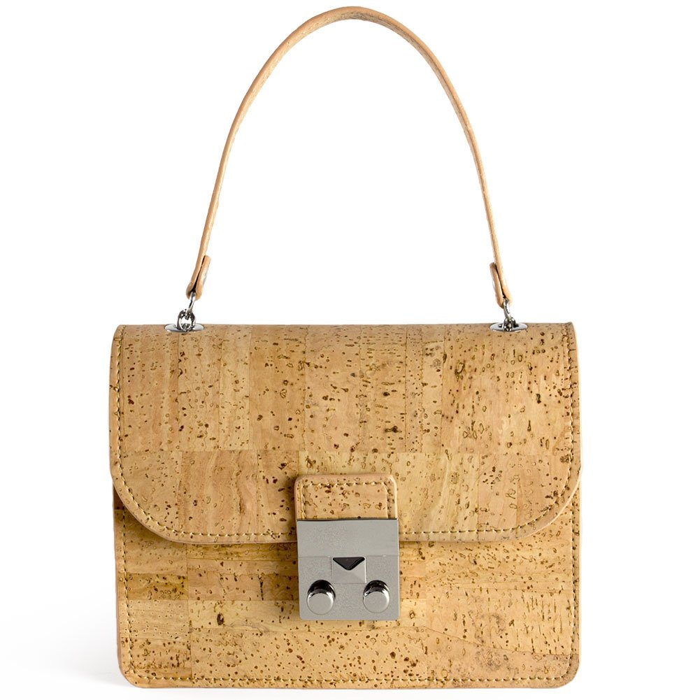 Corkor Mini Cork Handbag For Women Fashionable Vegan & Eco-Friendly Hands-Free Natural