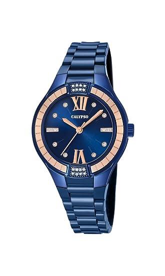 Calypso Reloj Análogo clásico para Mujer de Cuarzo con Correa en Plástico K5720/6: Amazon.es: Relojes