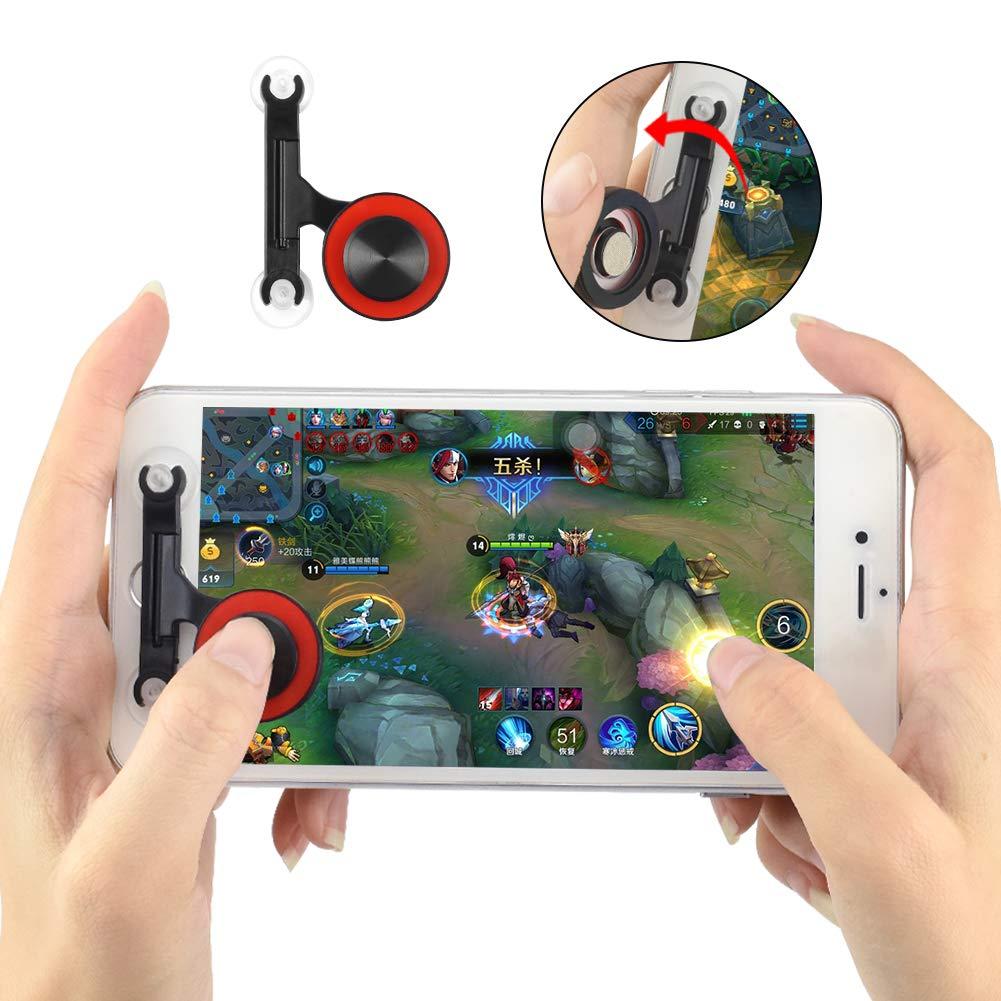 Newseego Contr/ôleur de Jeu Mobile Noir Manette de Jeu Manette de Pouce de Jeu d/écran Tactile 360 pour PUBG//R/ègles de Survie//Couteaux Out pour Android et iOS