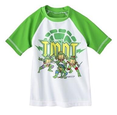d9dea63dd5 Nickelodeon Little Boys' Teenage Mutant Ninja Turtles Rashguard (Green, ...