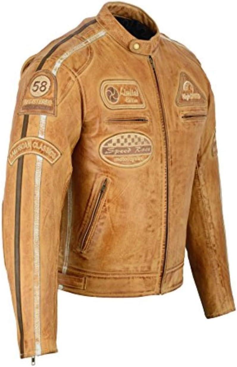 L Motorradjacke aus Nappa Leder BOSmoto Herren