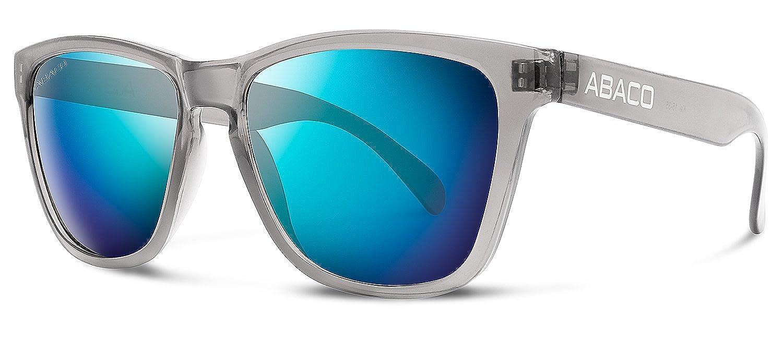ae9e83f6d39 Abaco Kai Sunglasses Crystal Grey Frame Polarized Ocean Mirror Lenses at  Amazon Men s Clothing store