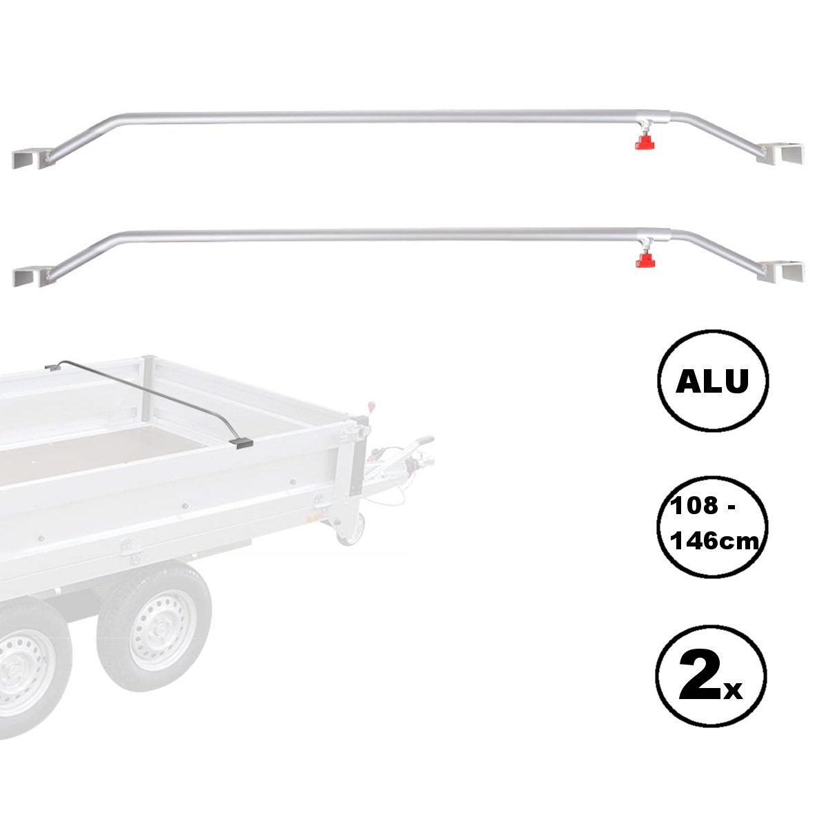 2x Pendentif plat Bâche à repasser Aluminium Réglable 108–146cm Bouton Vis