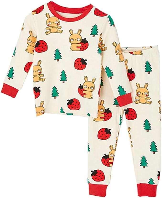 Pijama Para Niños Cálido Ropa Cómoda 100% Algodón 2 Piezas De ...