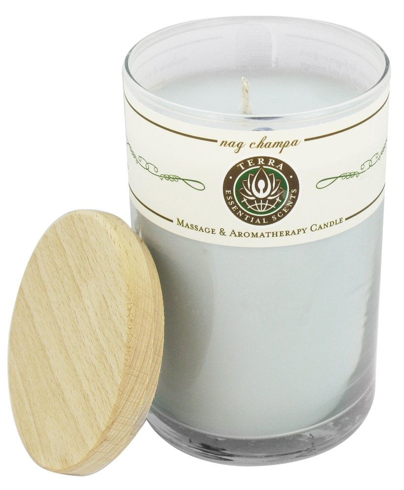 Terra Essential Scents - Massage & Aromatherapy Soy Candle Nag Champa - 12 oz.